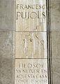 84 A Francesc Pujols, de Subirachs, pl. Reial.JPG