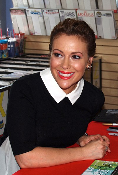 Alyssa Milano, American actress, producer, activist, and singer