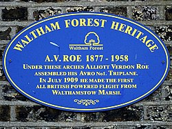 A.v. roe 1877   1958 (waltham forest heritage) 1 of 2