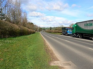 A371 road - Image: A371 near Bath and West showground, Shepton Mallet geograph.org.uk 730291