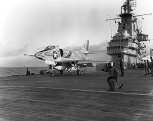 A4D-2 VA-81 on cat of USS Essex (CVS-9) c1961.jpeg