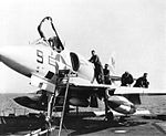 A4D-2 of VMA-224 on USS Independence (CVA-62) c1960.jpg