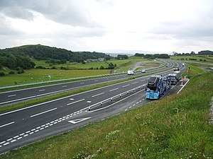 A590 road - A590 by-pass at High and Low Newton
