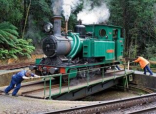 rebuilt railway between Queenstown and Strahan, Western Tasmania
