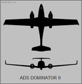 ADS Dominator II two-view silhouette.png