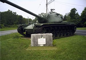M103 (heavy tank) - M103A2 heavy tank in front of Armed Forces Reserve Center Syracuse