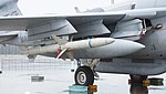 AGM-88 HARM mounted on U.S. Marine Corps EA-6B Prowler(163046) of VMAQ-2 right front view at MCAS Iwakuni May 3, 2015 02.jpg