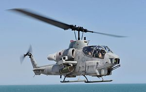 2009 California mid-air collision - Image: AH 1W Super Cobra assigned to HMLA 167