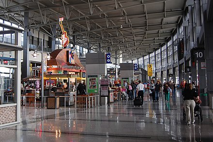 The Barbara Jordan Terminal at Austin-Bergstrom International Airport AUSCentralConcourse.JPG
