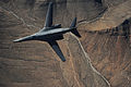 A B-1B Lancer maneuvers over New Mexico during a training mission.jpg