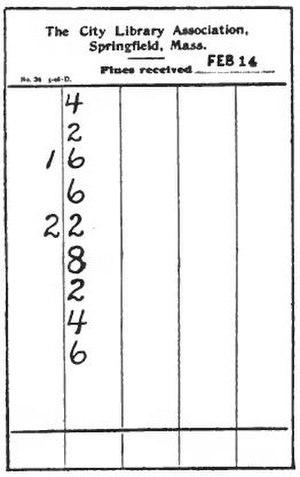 Library fine - Image: A Library Primer illustration fine slip