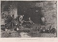 A Morrocan farrier at left accompanied by another figure attending to the hoof of a mule MET DP876139.jpg