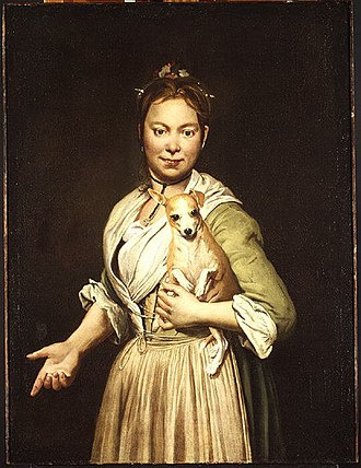 Giacomo Ceruti - A Woman with a Dog, 1740s, oil on canvas, 96.5 x 72.3 cm, Metropolitan Museum of Art, New York