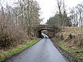 A bridge carrying a, now disused, railway track over the country road - geograph.org.uk - 1140181.jpg