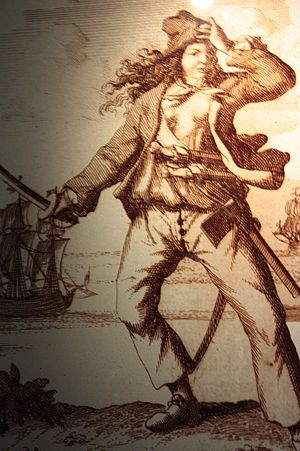 Mary Read - A contemporary engraving of Mary Read
