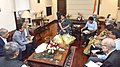 A delegation of TEXPROCIL led by the Union Minister for Textiles and Information & Broadcasting, Smt. Smriti Irani meeting the Union Minister for Commerce & Industry and Civil Aviation, Shri Suresh Prabhakar Prabhu.jpg