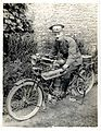 A dispatch rider in France. Photographer- H. D. Girdwood. (13875553463).jpg