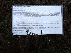 Geocaching - A message from under the stone on the Cauld Hill O' Fare