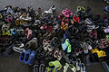 A pile of children shoes captured during refugees crisis. Refugee crisis. Budapest, Hungary, Central Europe, 6 September 2015.jpg