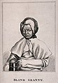 A protrait of a blind Granny holding a tankard of beer. Stip Wellcome V0015899.jpg
