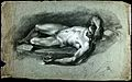 A reclining male nude with his right arm resting on his head Wellcome V0048974.jpg