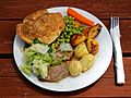 A roast beef dinner at The Queen's Head, Boreham, Essex, England - lighter.jpg