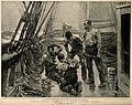 A sailor setting the broken leg of another sailor after an a Wellcome V0016864.jpg