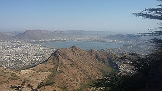 Ajmer - View of Ajmer From Taragarh Fort.