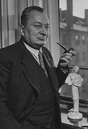 Aarre Merikanto - Merikanto in 1950s with his pipe.
