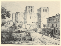 Abbey of Saint Victor, Marseille, where his relics are placed Abbaye de St Victor - 1818.PNG
