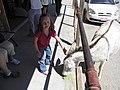 Abby Petting Burro, Oatman, Arizona (7280137328).jpg
