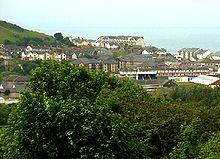 Aberystwyth dan Teluk Cardigan dari Perpustakaan Nasional Wales