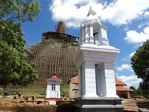 English: Abhayagiriya Dagoba in Anuradhapura -...