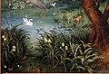 Abraham govaerts, paesaggio con cavalieri e bestiame, 1620 ca. 03 anatre, cigni.jpg
