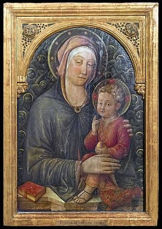 Jacopo Bellini - Madonna and Child Blessing (c.1455) 94 x 66 cm   Tempera on wood, Gallerie dell'Accademia, Venice.