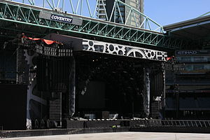 Black Ice World Tour - A shot of the touring stage taken in between a three show run at Etihad Stadium in Melbourne, Australia on 14 February 2010.