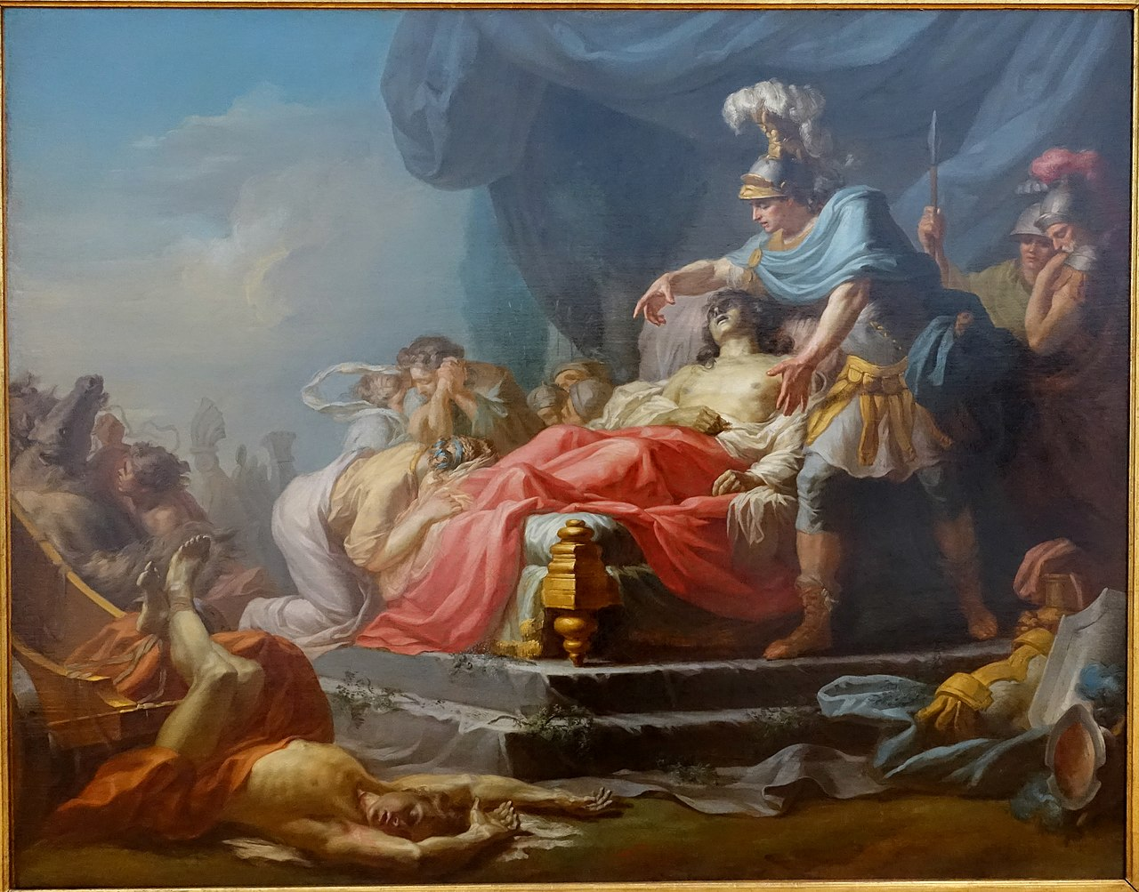 File:Achilles Displaying the Body of Hector at the Feet of ...