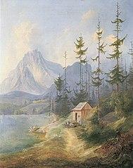 Der Sarstein bei Alt-Aussee (Fassung I, 1835)