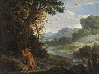 Landschaft mit Johann Baptista (Nachfolger)