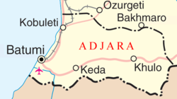 A more detailed map of Adjara.
