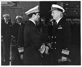Gerald F. Bogan - Adm. Bogan meets Shah of Iran, 1949.
