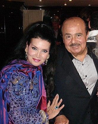 Adnan Khashoggi - Khashoggi and wife Lamia