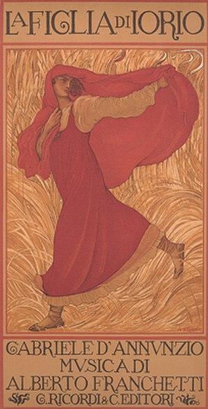 Adolfo de Carolis - Poster  for  La figlia di Iorio
