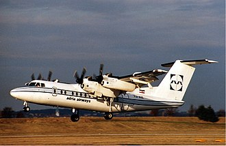 Adria Airways - Adria DHC-7 at Stuttgart Airport in 1989