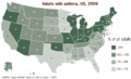 Adults with asthma, US, 2009.png