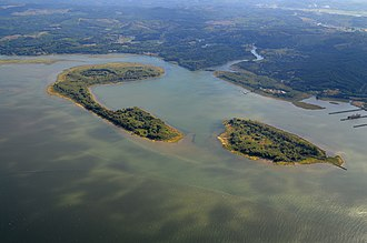 Lewis and Clark National Wildlife Refuge - Image: Aerial View of Lois Island, Lewis and Clark National Wildlife Refuge