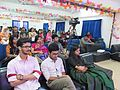 Afifa Afrin, Wakim and Nahid Sultan in panel discussion of All Women Workshop on Wikipedia at 5th National WUB 2016, ComTech Festival at World University, Dhaka, Bangladesh in 24 November 2016.jpg