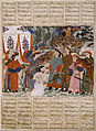 Afrasiyab Killing Naudar, a folio from the Great Mongol Shahnama (Book of Kings) - Google Art Project.jpg