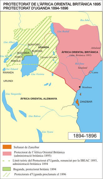 James Macdonald (engineer) - British East Africa 1895–1896. The Nile runs northwest from Lake Victoria to Lake Albert, then north into Sudan