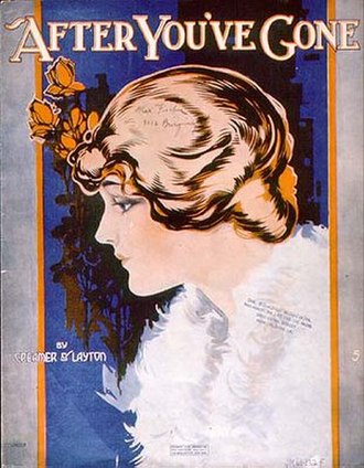 After You've Gone (song) - Sheet music cover (1918)